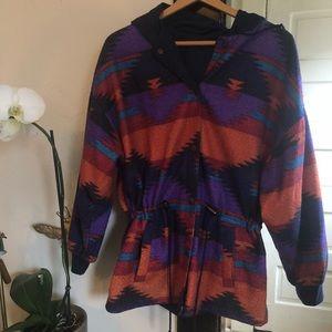 Vintage Aztec Hoodie Jacket